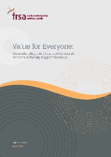 Value For Everyone Report: Understanding the Social and Economic Benefits of Family Support Services (2013)