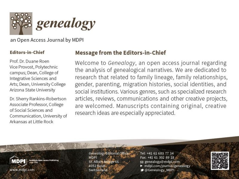 Genealogy — Open Access Journal